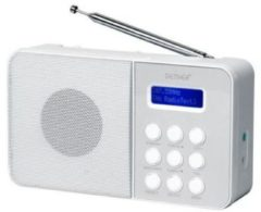 Denver DAB-33 Draagbaar Analog & digital Wit radio
