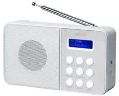 Universeel Dab-33white - Compacte Dab+/fm-radio - Wit