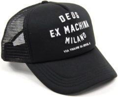 Zwarte Deus Ex Machina DEUS Trucker cap Milano Address Trucker - Black