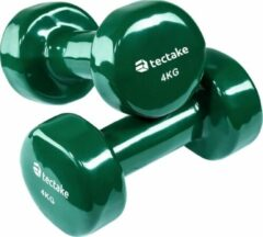 TecTake - set van 2 Dumbbells, 2 x 4,0 kilogram - groen - 402361