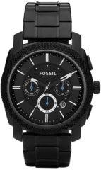 Fossil FS4552 Horloge Machine Chronograaf staal zwart 45 mm