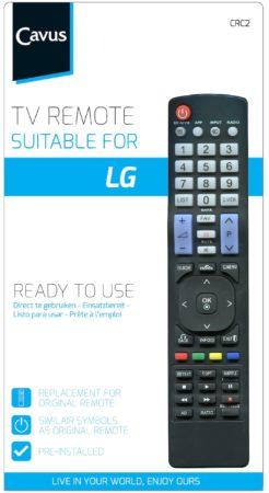 Afbeelding van Cavus TV afstandsbediening voor LG Afstandsbediening Zwart