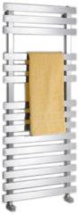 Roestvrijstalen Handdoekradiator Sapho Truva Recht 50x120 cm Geborsteld RVS