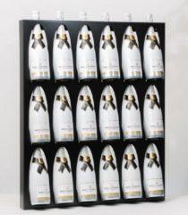 Ferro Duro Wijnrek - 18 flessen wijndisplay - zwart - gepoedercoat