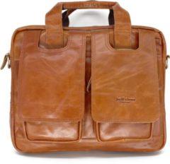 Bruine 14 inch Leren Laptoptas - Aktetas - Schoudertas - Erasmus Limited Edition - Jarff Rivers