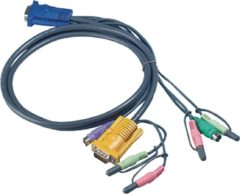Zwarte Aten Cable For KVM CS1732CS1734 CS1754CS1758PS/2 Cable at PC Side For PS/2 Computer3.0mtr