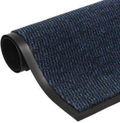 VidaXL Droogloopmat rechthoekig getuft 80x120 cm blauw