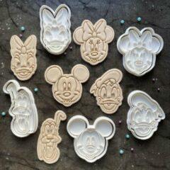 Happy bakers Disney Cookie Cutters / Uitstekers Set / Fondant Stempels / Koekjes Vormen - 5 Stuks