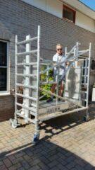 Grijze Lockhard Rolsteiger Hoogwerker de Alulift werkhoogte 800 cm - De Solarlift bij uitstek! 250 kg belastbaar.