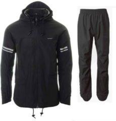 Zwarte AGU Original Rain Suit Regenpakken Unisex - Maat XXL