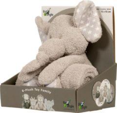 Grijze Bo Jungle B-plush toy with blanket Zimbe the Elephant