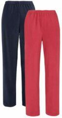 Marineblauwe Fleece joggingbroeken Harmony marine/rood