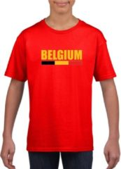 Rode Shoppartners Rood Belgium supporter supporter shirt kinderen - Belgisch shirt jongens en meisjes L (146-152)
