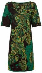 IVKO Jacquard-gebreide jurk van bio-katoen met bladerendessin, groen-motief 40