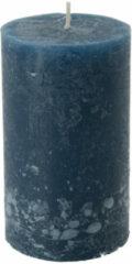 Xenos Kaars rustiek donkerblauw - 7x12 cm