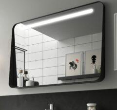 Muebles Polo spiegel met LED-verlichting 100x70cm zwart
