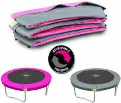 EXIT beschermrand Twist trampoline ø244cm - roze/grijs