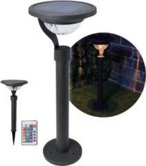 Antraciet-grijze O'DADDY O'DADDY Tania tuinverlichting - solar buitenverlichting - multi colour met spies - afstandsbediening