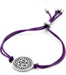 CO88 Collection Chakra 8CB 90208 Armband met Stalen Element - Crown Chakra Ø 20 mm - One-size - Paars