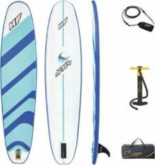 Blauwe Bestway Hydro Force Compact Surf 8 | Opblaasbaar surfboard voor jong en oud
