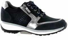 Blauwe Xsensible Stretchwalker Vrouwen Leren Sneakers - 30103.2/wembley - 37