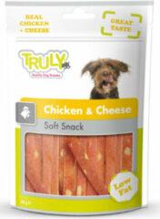 15x Truly Hondensnack Chicken & Cheese 90 gram