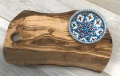 Tapasplank met schaaltje Turquoise blue fine | TP.TB.2D | Dishes & Deco