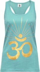 "Turquoise Yoga-Racerback-Top ""OM sunray"" - mint gold XL Loungewear shirt YOGISTAR"