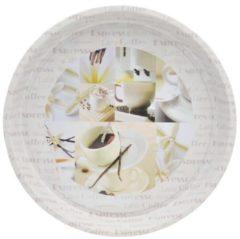 Tablett mit Kaffee-Motiv Vanille HTI-Living Weiß, Creme