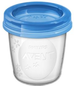 Transparante Philips Avent SCF618/10 Bewaarbekers voor babyvoeding - 180 ml - 10 stuks