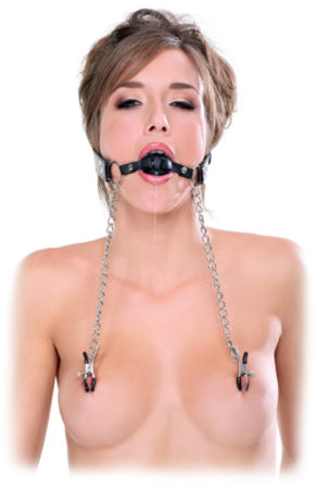 Afbeelding van Pipedream (all),Pipedream - FF Extreme FF Extreme - Deluxe Ball Gag & Nipple Clamps
