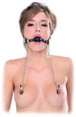 Pipedream (all),Pipedream - FF Extreme FF Extreme - Deluxe Ball Gag & Nipple Clamps