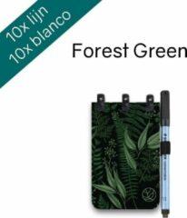 Donkergroene Greenstory Groenstory groenBook Pocket - mix Lijn & Blanco - Forest groen - A7 - Whiteboard Notebook