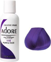 Paarse Adore Shining Semi Permanent Hair Color  Adore 116 Purple Rage  Haaverf