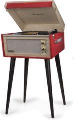 Crosley Bermuda Dansette Vintage Red platenspeler op pootjes