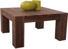 Möbel Ideal Couchtisch Braxton 90x90 in Eiche massiv verwittert antik