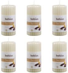 Witte 6 stuks Bolsius french vanilla - vanille geurkaarsen 120/58 (30 uur)