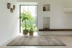 OSTA Lana – Vloerkleed – Tapijt – geweven – wol – eco – duurzaam - modern - berber - Grijs Bruin - 160x230