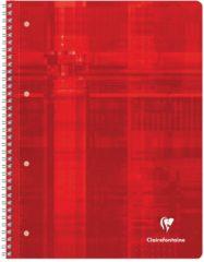 Schrift Clairefontaine spiraal 160 uitscheurbare pagina's 21 x 29,7 cm 5 x 5 geassorteerde kleuren