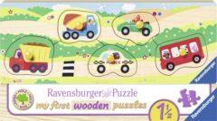 Ravensburger houten puzzel Voertuigen - 5 stukjes
