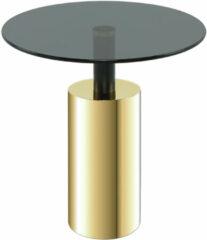 Kayoom Bijzettafel 'Rosanna' 46cm, kleur goud / zwart