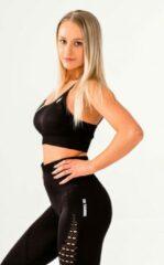DM Training Energy sportoutfit / fitness kleding set voor dames / fitness legging + sport bh (zwart)