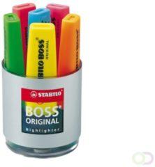Rode STABILO BOSS ORIGINAL - Speciale Bureauset - Met 6 Kleuren