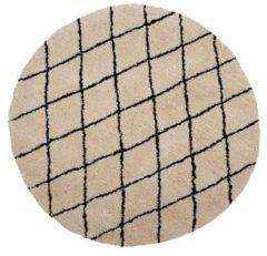 Beliani Vloerkleed beige/zwart ø140 cm MIDYAT