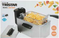 Zilveren Tristar frituurpan | 3 Liter | 2000 Watt | RVS |