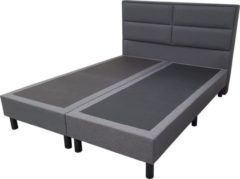 Antraciet-grijze Bed4less Boxspring Mercury 2 persoons - 180x200cm
