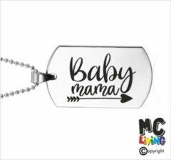 Zilveren MC Living Ketting RVS - Baby Mama