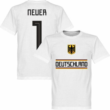 Afbeelding van Retake Duitsland Neuer 1 Team T-Shirt - Wit - M