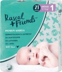 Rascal+Friends Baby Luiers maat 1, 3-5 kg (21 stuks)