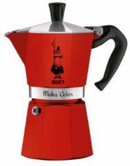 Rode Percolator Moka Express Bialetti rood 6-kops